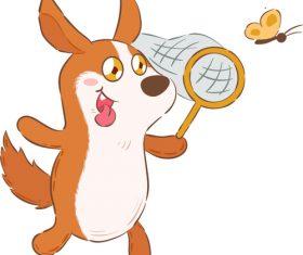 Playing animals cartoon illustration vector