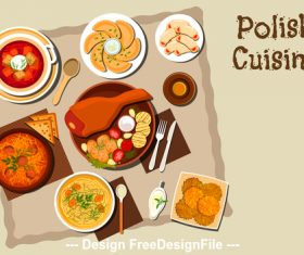 Polish cuisine vector