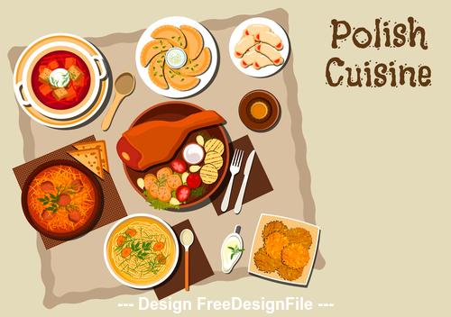 Polish cuisine vector