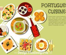 Portuguese cuisine vector