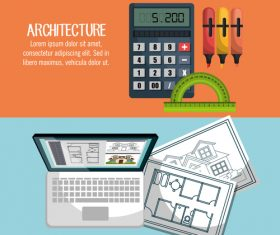 Professional architectural design vector
