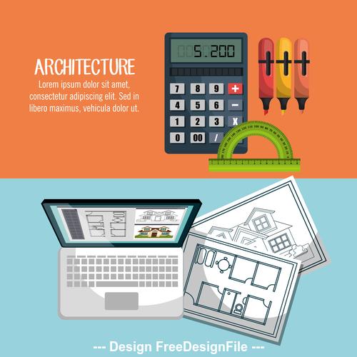 Professional architectural design vector