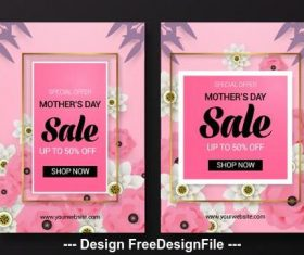 Promotion poster mothers day vector
