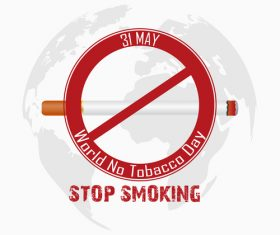 Quit tobacco poster vector