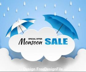 Rainy season specials advertising vector