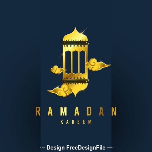 Ramadan Karrem sale background vector