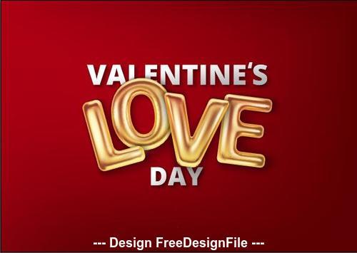 Red background golden love font background vector