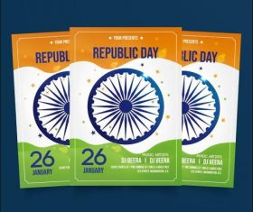 Republic day poster vector