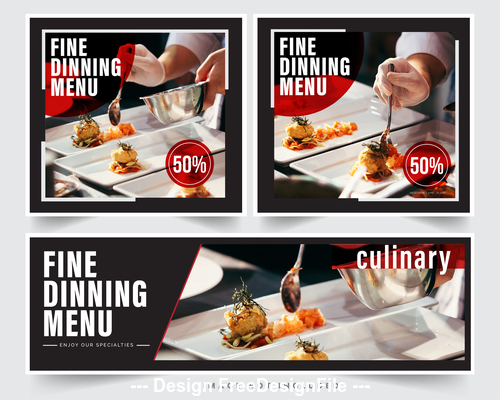 Restaurant food picture vector