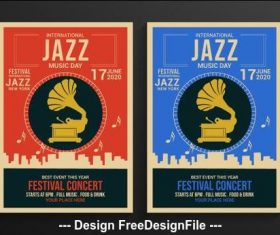 Retro jazz festival poster vector