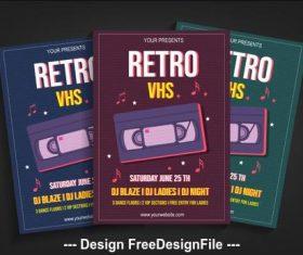 Retro vhs poster vector