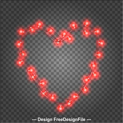 Romantic valentines day illustrations vector