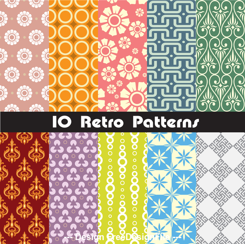 Round and square seamless pattern vector