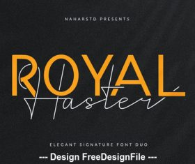 Royal haster fonts