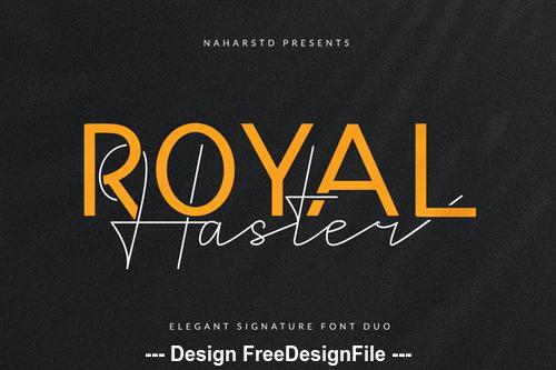 Royal haster fonts