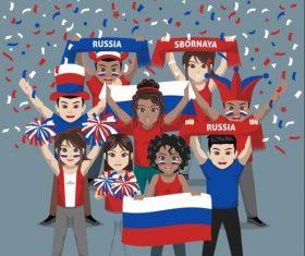 Russia fan club vector