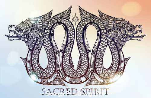 Sacred spipit icon vector