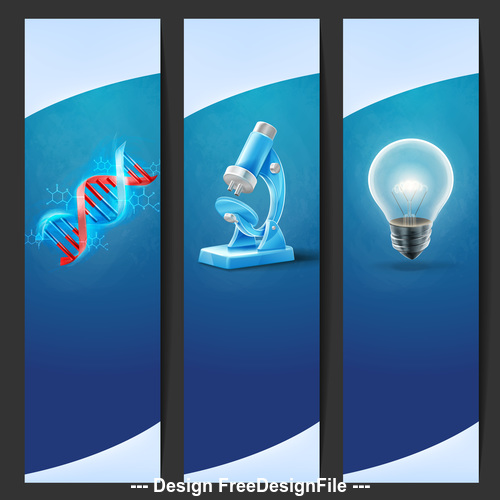 School laboratory banner vector