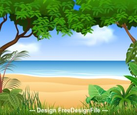 Seaside illustration vector