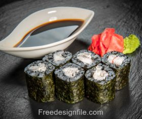 Seaweed and sushi Stock Photo