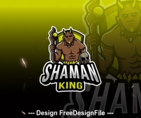 Shaman king esport logo vector