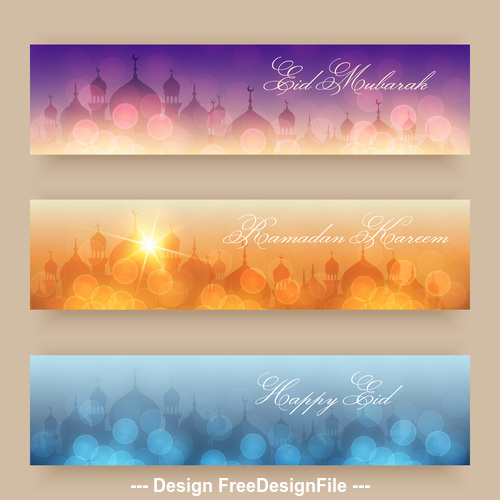 shiny background eid mubarak banner vector free download shiny background eid mubarak banner