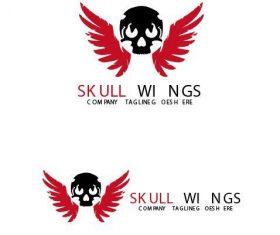Skull Wings Logo vector
