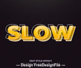 Slow 3d font effect editable text vector