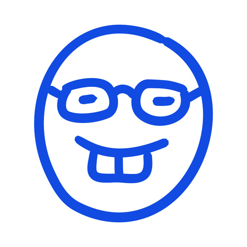 Smile with glasses hand drawn emoji vector