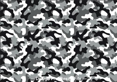 Snow camouflage seamless pattern vector