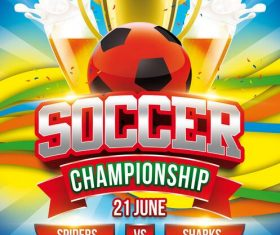 Soccer Championship Flyer PSD Template