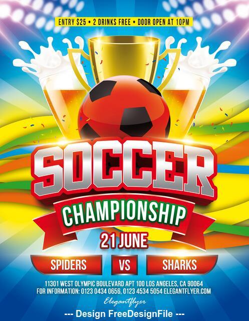 Soccer Championship Flyer PSD Template