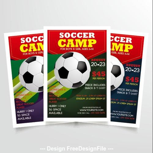 Soccer camp poster vector