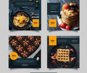 Social media instagram post design templates vector