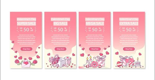 Special sale valentines day banner vector