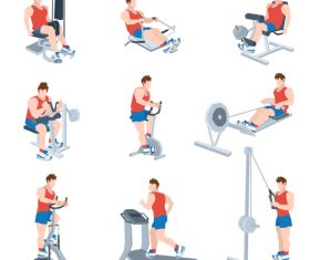 Sport equipment fitness vector