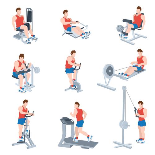 Sport equipment fitness vector