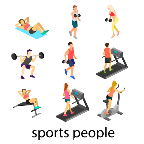 Sports people icon vector