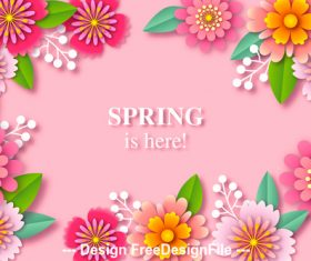 Spring is here card vector