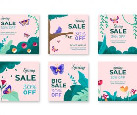 Spring sale event flyer vector