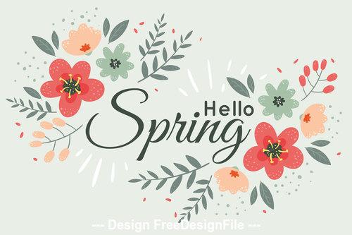Spring say hello card vector