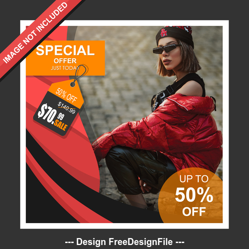 Spring special offer cover template design vector