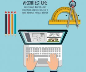 Staff architectural design vector