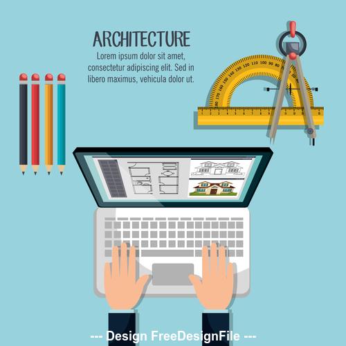 Staff architectural design vector