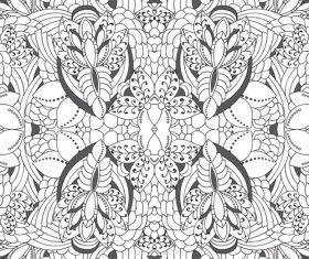 Stick figure floral vector