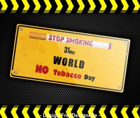 Stop smoking label vector