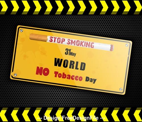 Stop smoking label vector