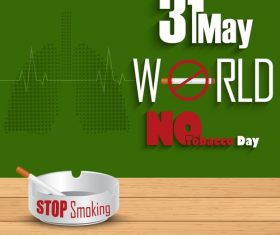Stop smoking poster vector