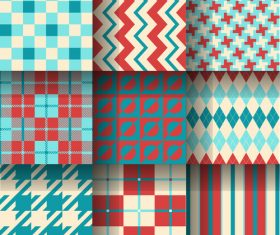 Striped and checkered pattern seamless vector