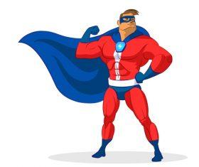 Strong superman cartoon vector
